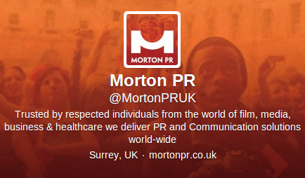 Tweet @ Morton PR UK